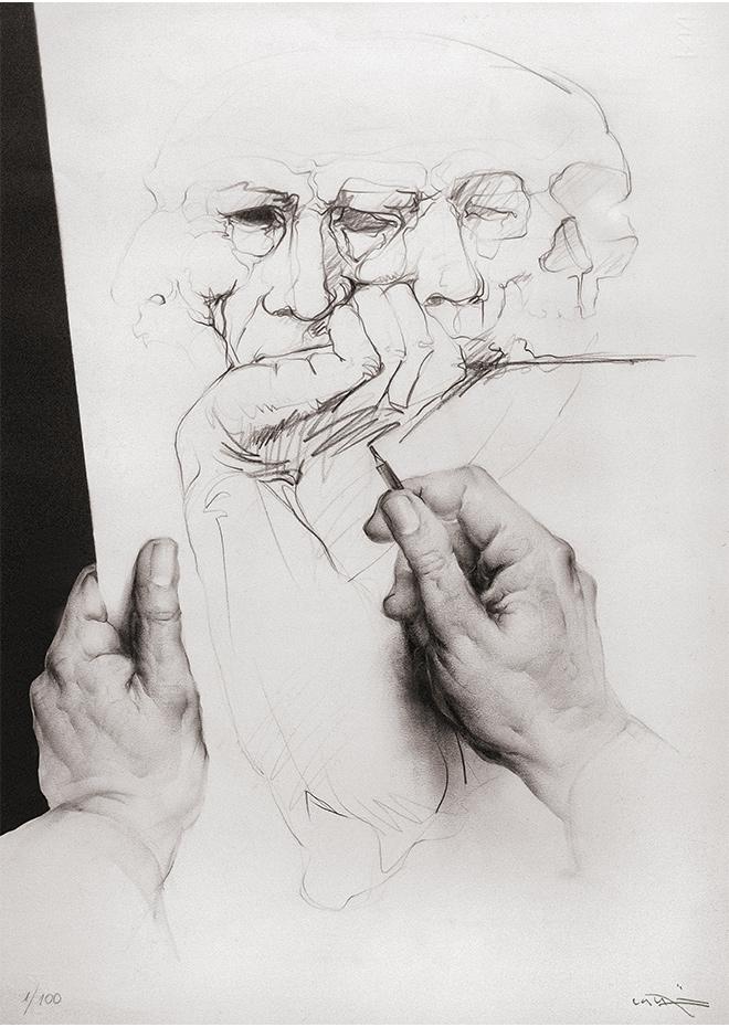 Obra Gráfica Estudi para autoretrat