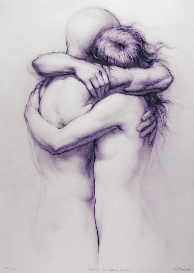 Obra grafica - Temps de abraçar